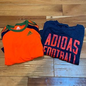 Set of 2 Boys ADIDAS Long Sleeve Shirts Sz 6